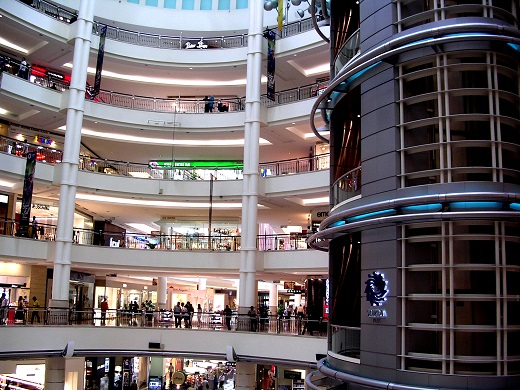 Large Commercial Building Interior - Mall