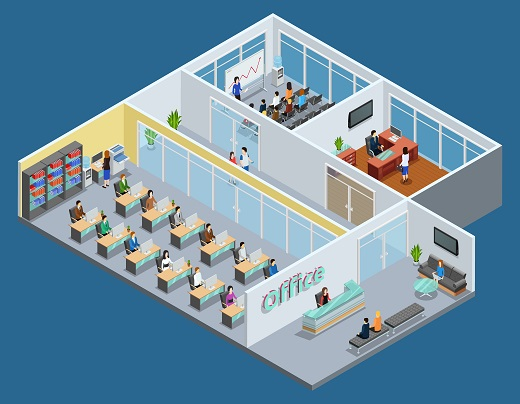 Small Office Building  Layout