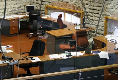 Empty Office At Lunchbreak